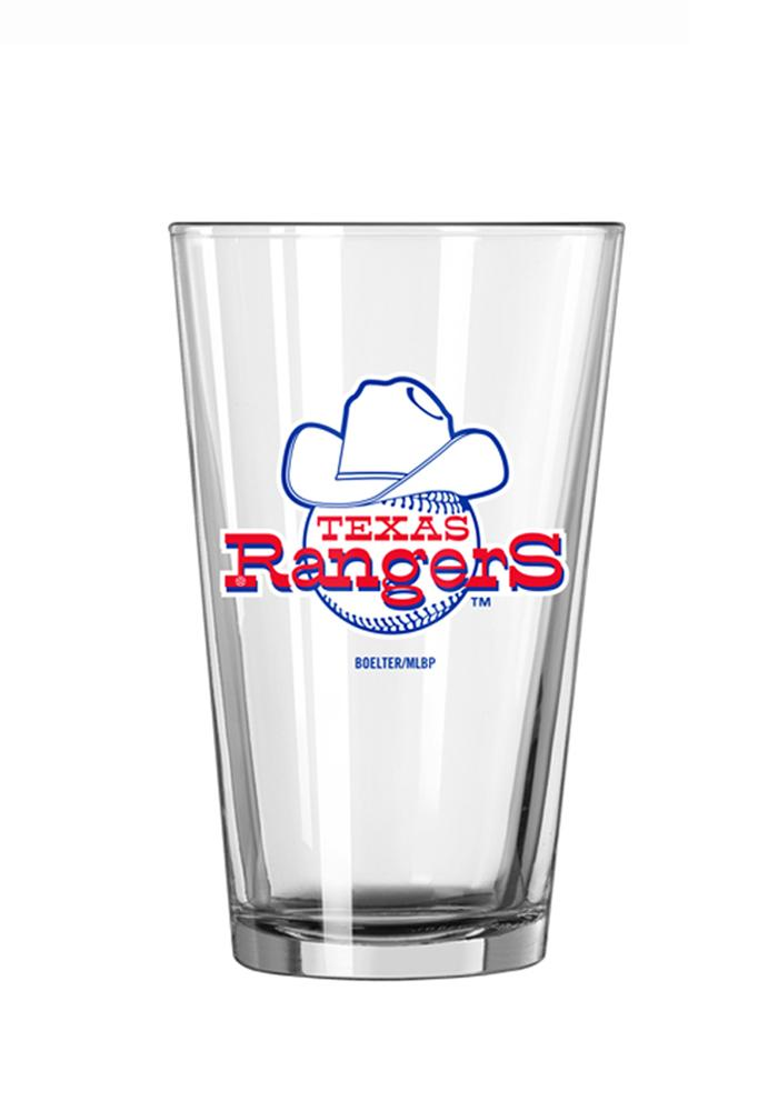 Texas Rangers Vintage Ball with Hat Logo Pint Glass - Image 1