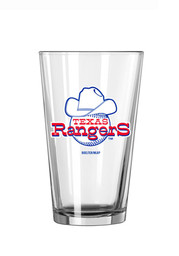Texas Rangers Vintage Ball with Hat Logo Pint Glass