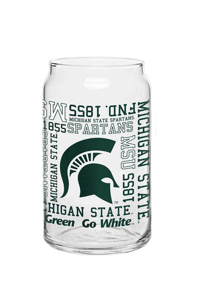 Michigan State Spartans Spirit Can Pint Glass - Image 1