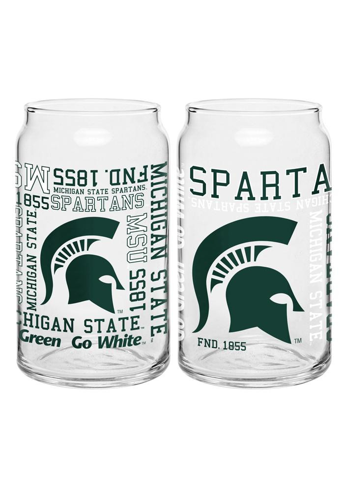 Michigan State Spartans Spirit Can Pint Glass - Image 3