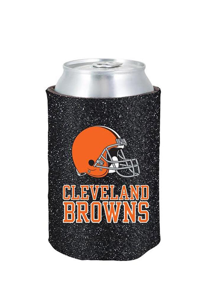 Cleveland Browns Glitter Can Koozie - Image 1