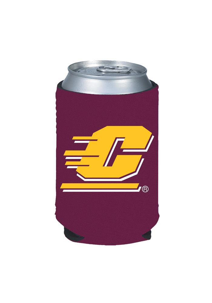 Central Michigan Chippewas Maroon Can Koozie - Image 1