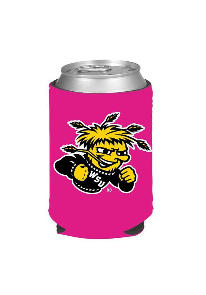 Wichita State Shockers Pink Can Koozie - Image 1