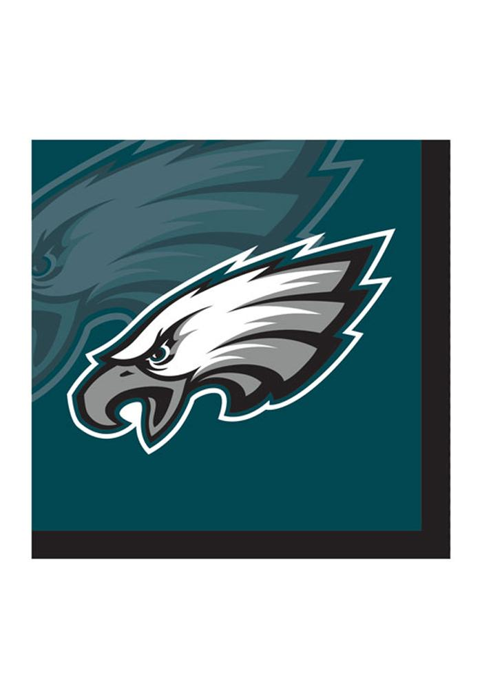Philadelphia Eagles 20pk Beverage Napkins - Image 1