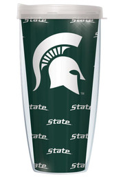Michigan State Spartans Green Pattern and Logo 22oz Tumbler