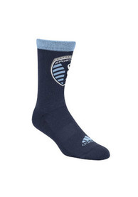 Sporting Kansas City Mens Navy Blue Solid Jacquard Crew Socks
