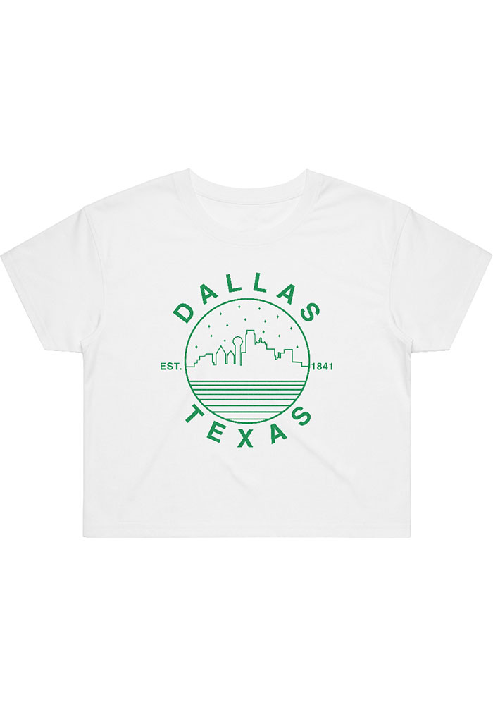 Dallas Women's Starry Scape White Cropped Short Sleeve T-Shirt - Image 1