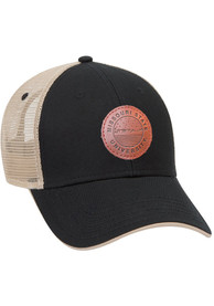 Missouri State Bears Starry Scape Leather Patch Meshback Adjustable Hat - Black