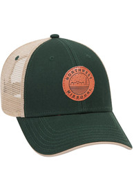 Northwest Missouri State Bearcats Starry Scape Leather Patch Meshback Adjustable Hat - Green