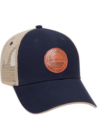 SMU Mustangs Starry Scape Leather Patch Meshback Adjustable Hat - Navy Blue