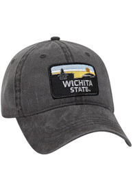 Wichita State Shockers Retro Sky Vintage Adjustable Hat - Charcoal