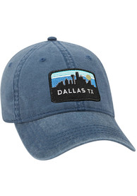 Dallas Ft Worth Retro Sky Vintage Adjustable Hat - Navy Blue