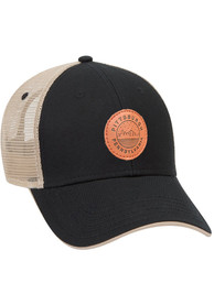 Pittsburgh Starry Scape Leather Patch Meshback Adjustable Hat - Black