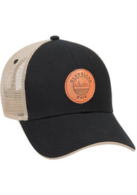 Cleveland Starry Scape Leather Patch Meshback Adjustable Hat - Black