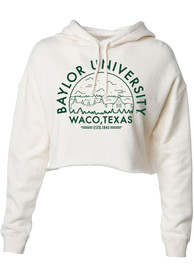 Baylor Bears Womens White Voyager Crop Hoodie