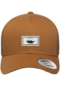 Wichita Woven Label Elevated Trucker Adjustable Hat - Brown
