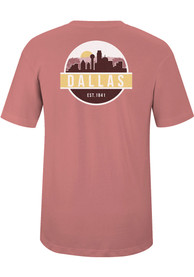 Dallas Dusty Rose Scenic Circle Short Sleeve T-Shirt