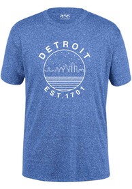 Detroit Sky Blue Starry Scape Short Sleeve T-Shirt