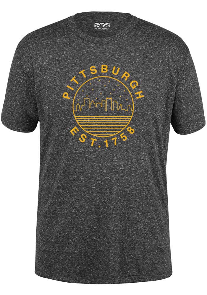 Pittsburgh Starry Scape Short Sleeve T-Shirt - Black - Image 1