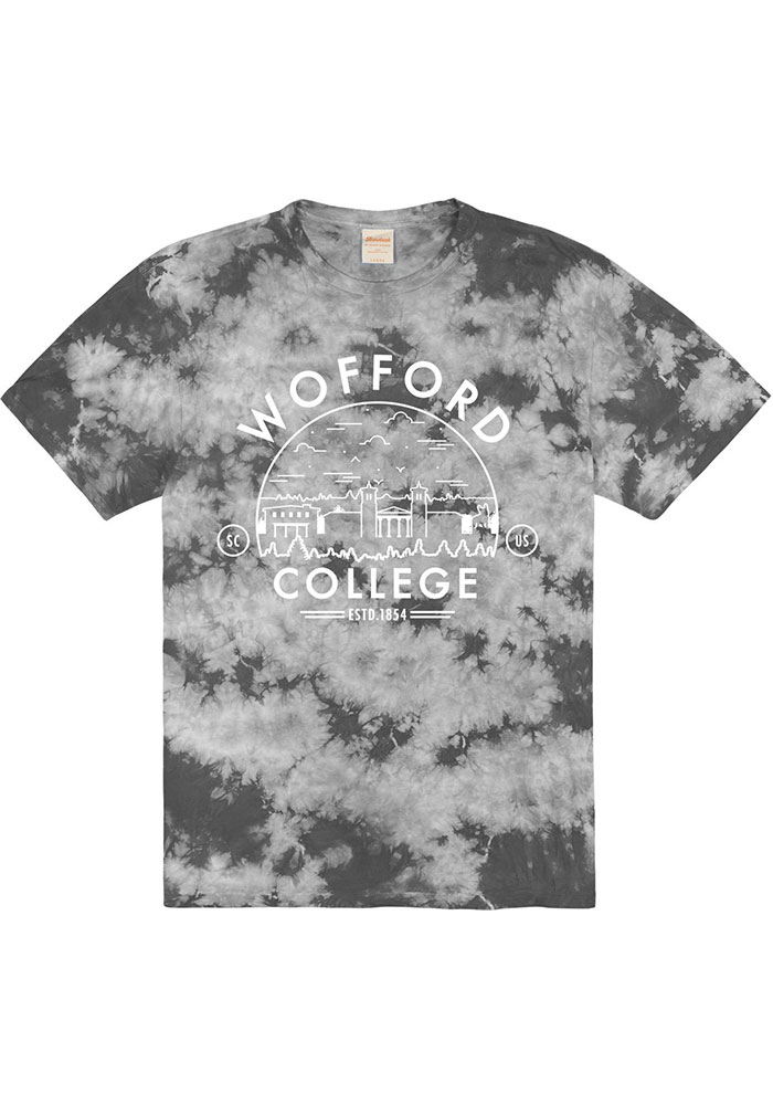 Wofford Terriers Black Tie Dyed Short Sleeve T Shirt - Image 1