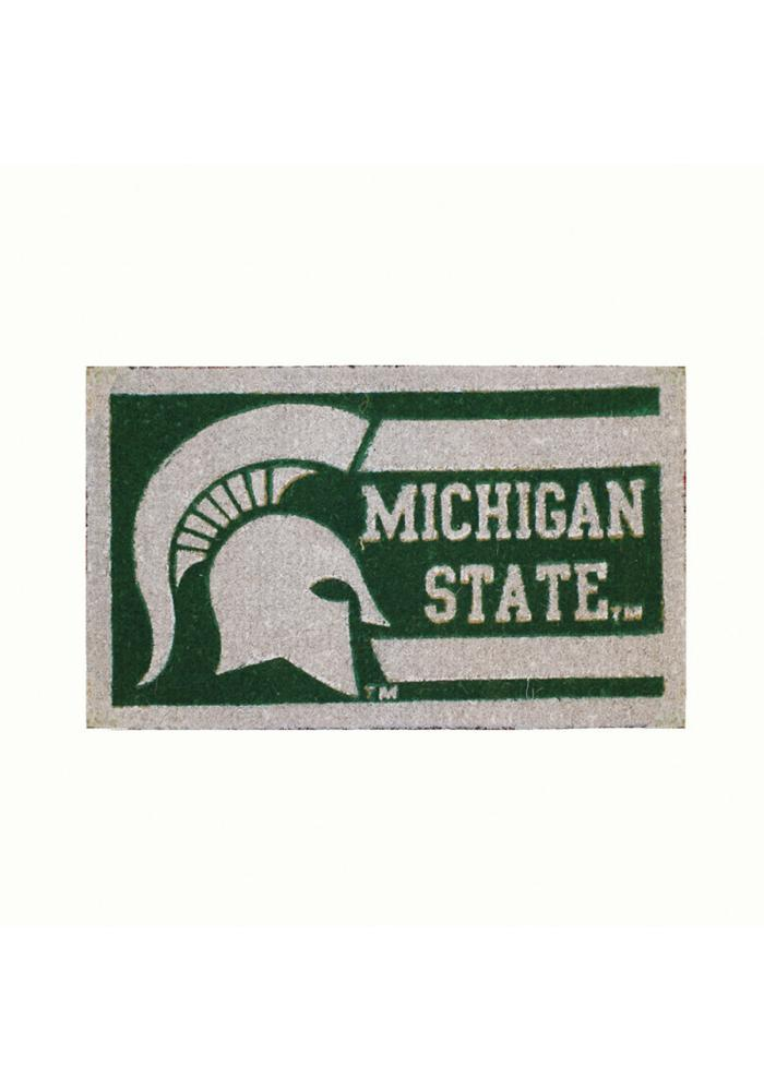 Michigan State Spartans Welcome Door Mat - Image 1