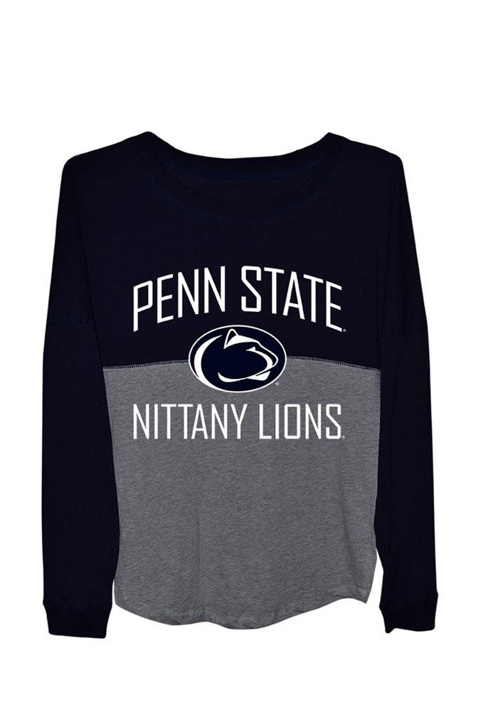 Penn State Nittany Lions Womens Sideline Jersey Navy Blue LS Tee