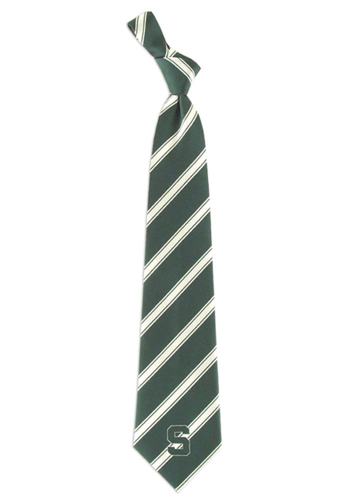 Michigan State Spartans Woven Poly 1 Mens Tie - Image 1