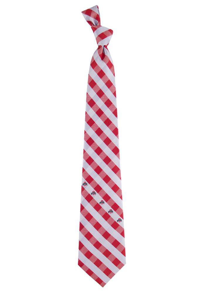 Ohio State Buckeyes Check Mens Tie - Image 1