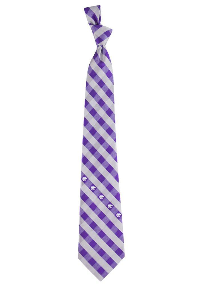 K-State Wildcats Check Mens Tie - Image 1