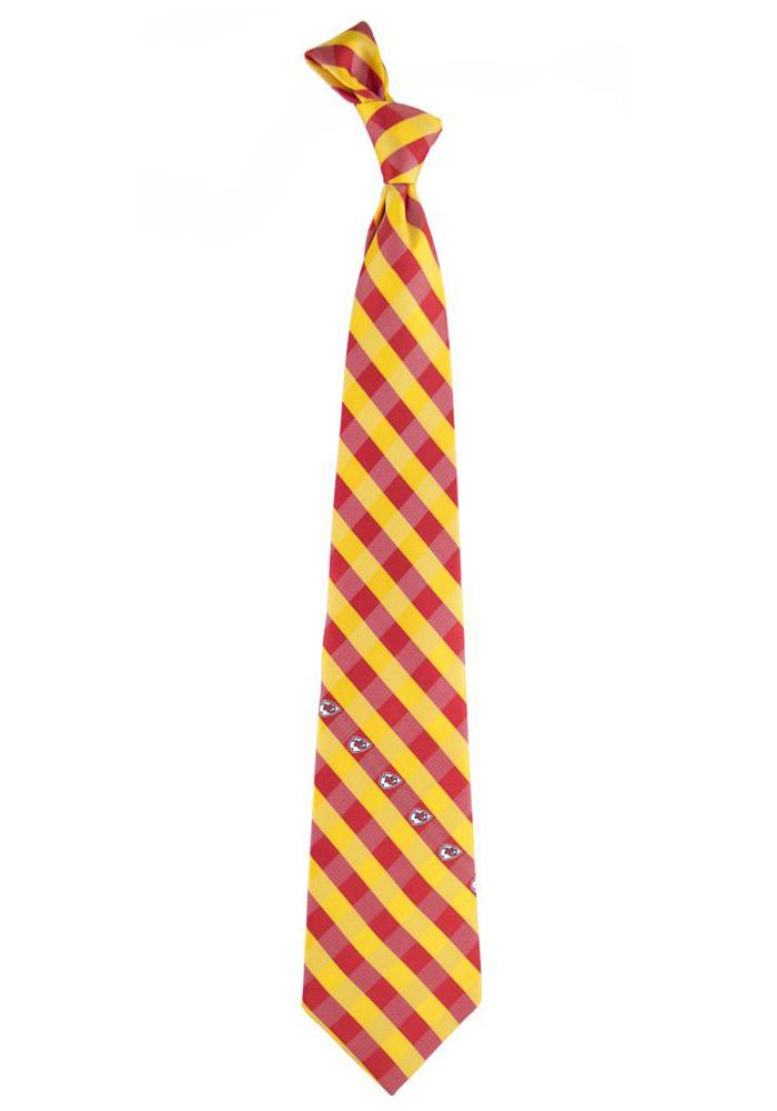 Kansas City Chiefs Check Mens Tie - Image 1