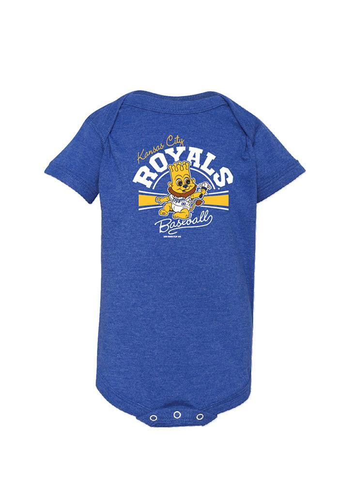 Kansas City Royals Baby Blue Bunt Short Sleeve One Piece - Image 1