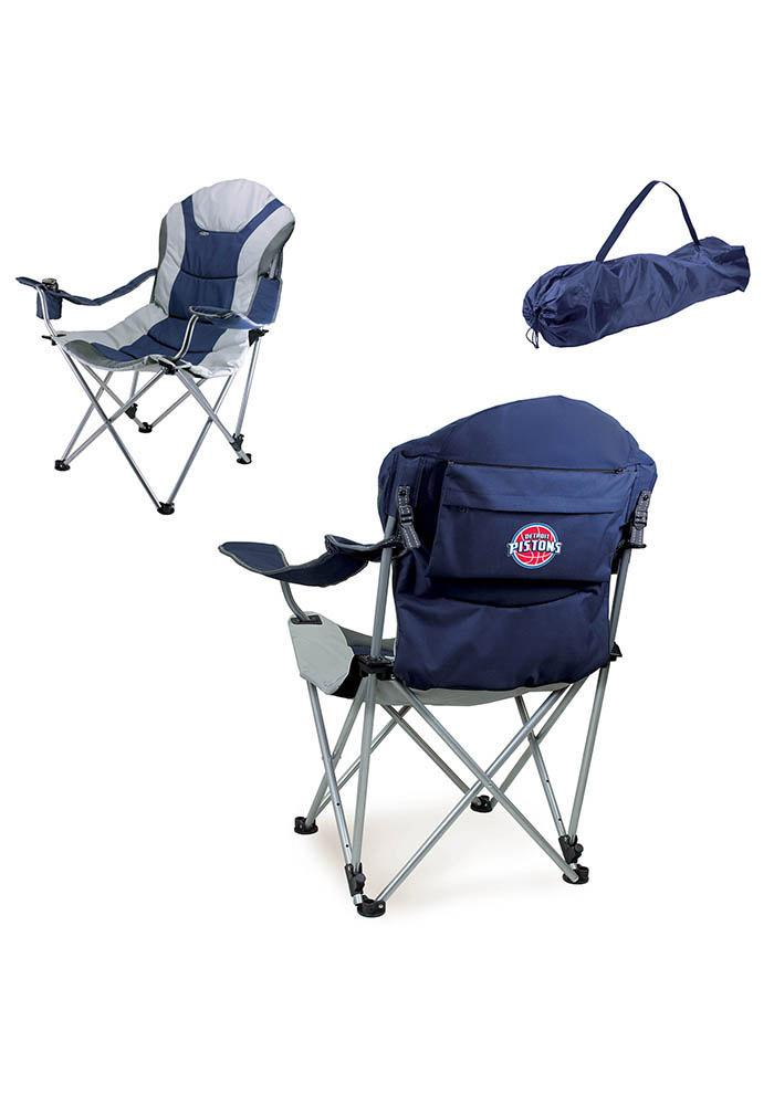 Detroit Pistons Reclining Camp Canvas Chair - Image 1