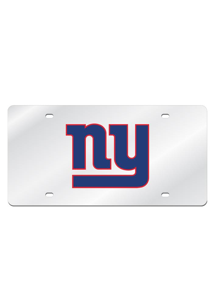 New York Giants Silver Arcylic Car Accessory License Plate - Image 1