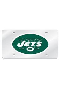 New York Jets Silver Arcylic Car Accessory License Plate