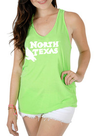 North Texas Mean Green Juniors Green Katie Tank Top
