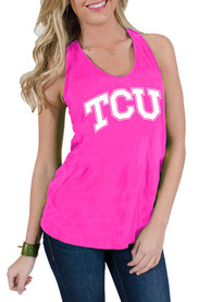 TCU Horned Frogs Juniors Pink Katie Tank Top