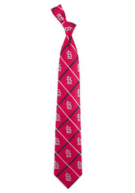 St Louis Cardinals Silver Line Tie - Red