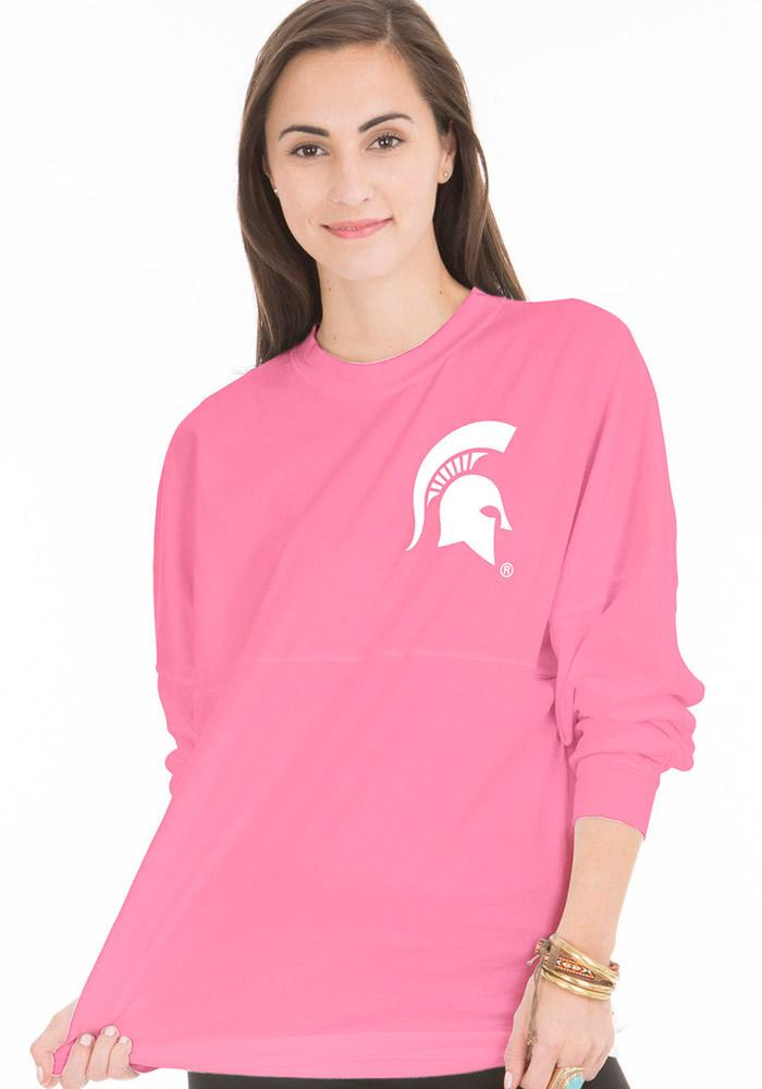 Michigan State Spartans Juniors The Jade Pink LS Tee