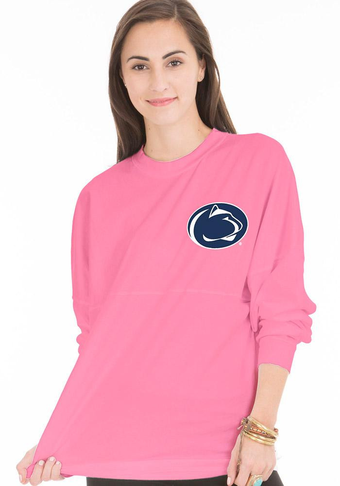 Penn State Nittany Lions Juniors Pink The Jade LS Tee - Image 1
