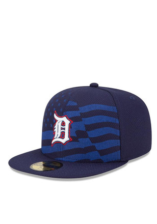 Detroit Tigers New Era Mens Navy Blue 2015 Stars and Stripes Fitted Hat