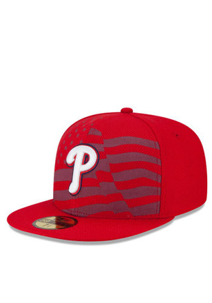 Philadelphia Phillies New Era Mens Red 2015 Stars and Stripes Fitted Hat