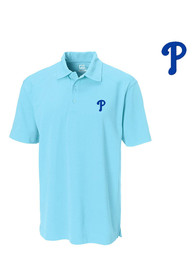 Philadelphia Phillies Cutter and Buck Genre Polo Shirt - Blue