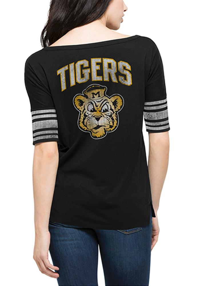 47 Missouri Tigers Juniors Black 1962 Anthem Scoop T-Shirt - Image 2