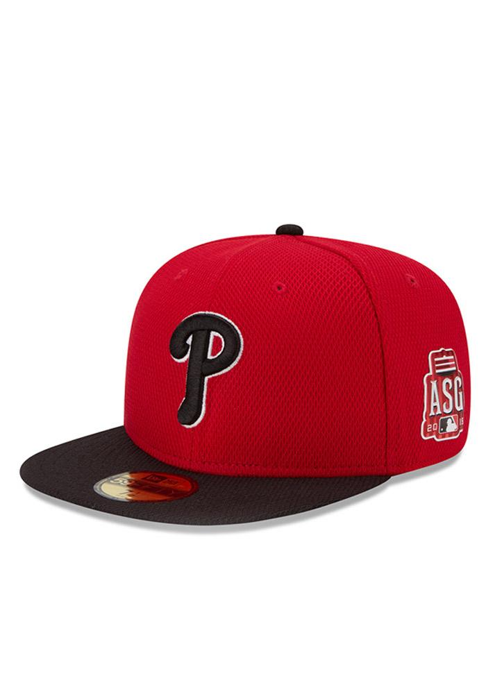 New Era Philadelphia Phillies Mens Red Home Run Derby 59FIFTY Fitted Hat - Image 1
