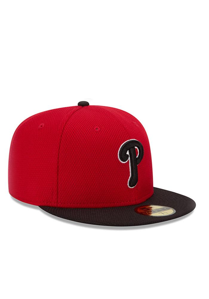 New Era Philadelphia Phillies Mens Red Home Run Derby 59FIFTY Fitted Hat - Image 2