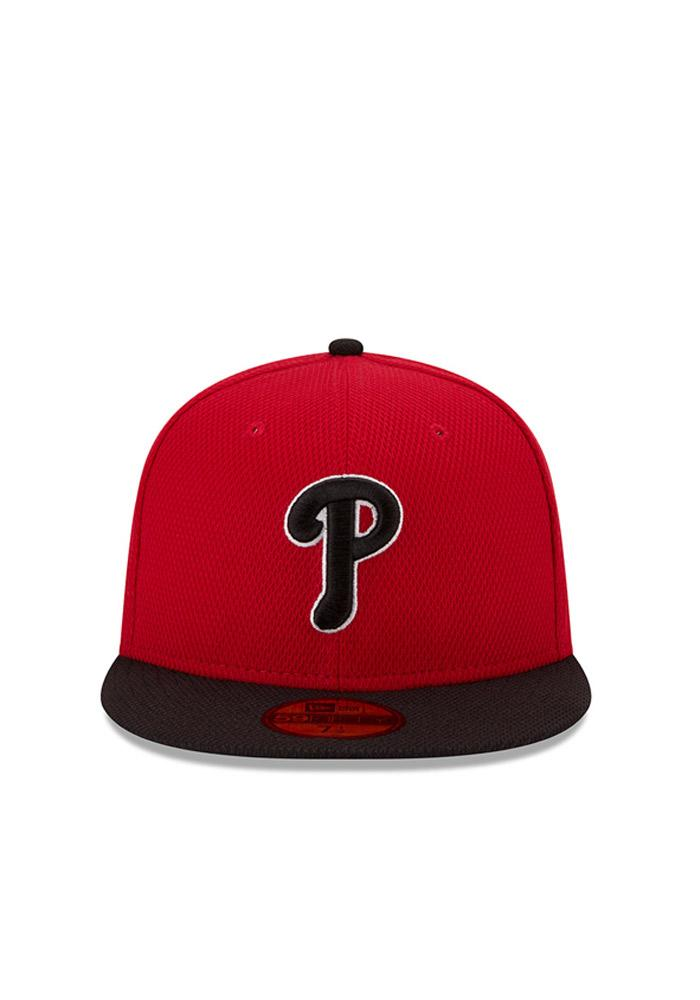 New Era Philadelphia Phillies Mens Red Home Run Derby 59FIFTY Fitted Hat - Image 3