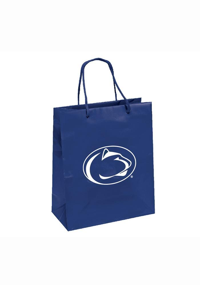 Penn State Nittany Lions 10x12 Metallic Navy Blue Gift Bag - Image 2