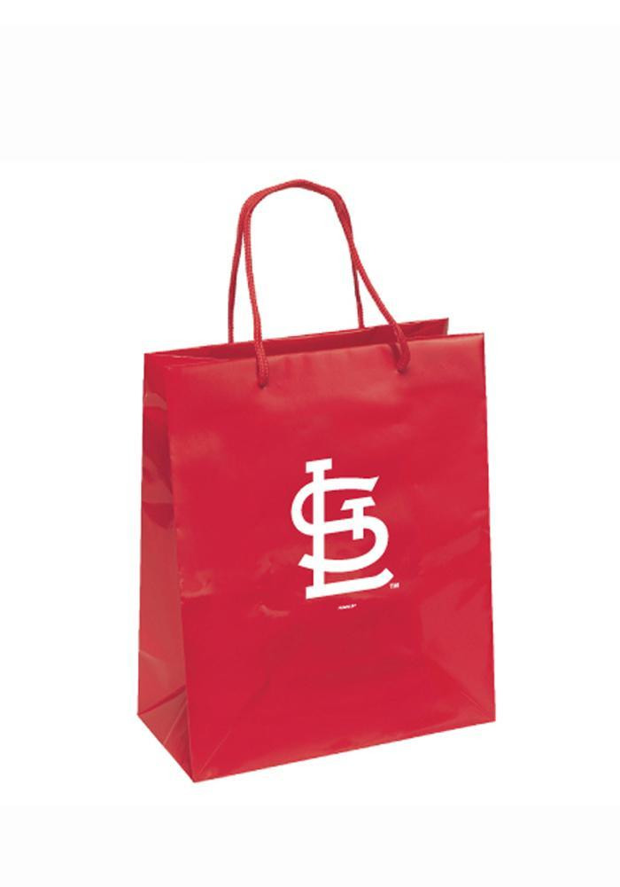 St Louis Cardinals 10x12 Red Metallic Red Gift Bag - Image 1