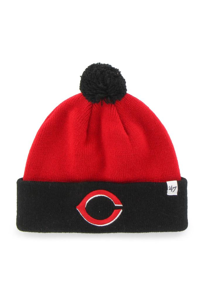 '47 Cincinnati Reds Bam Bam Set Baby Knit Hat - Red - Image 3