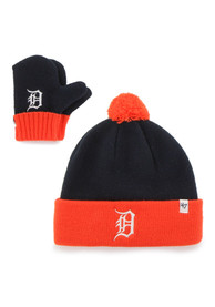 Detroit Tigers Baby 47 Bam Bam Set Knit Hat - Navy Blue